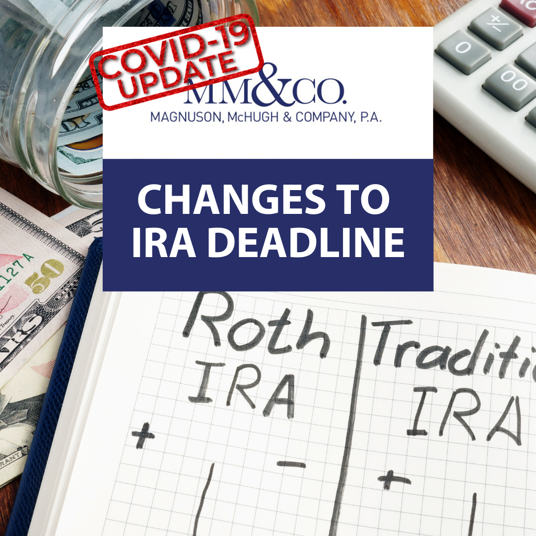 COVID19 Update: Changes to IRA Deadline